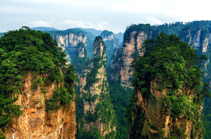 The National Forest Park of Zhangjiajie City in northern Hunan Province, China.photo © Peter Stewart.
