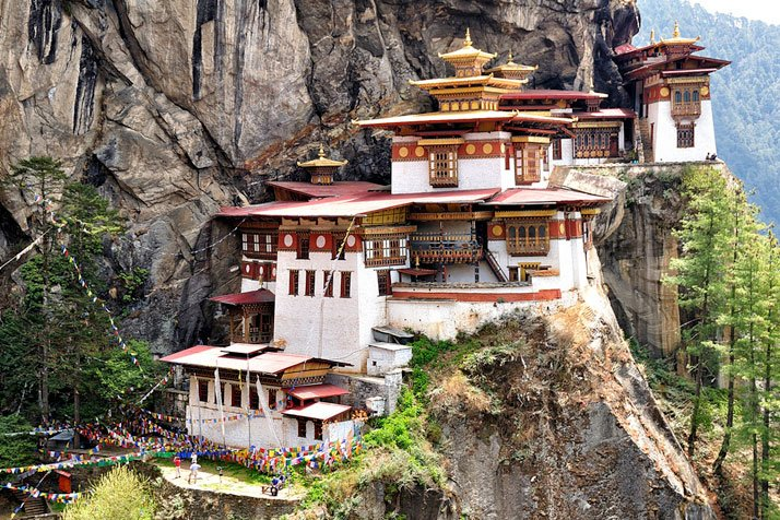 Taktsang Palphug Monastery (also known as The Tiger's Nest), Paro valley, Bhutan. photo © Csilla Zelko.