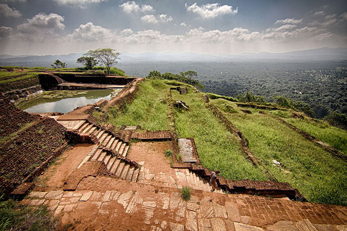 The gardens at Sigiriya, Sri Lanka.photo © Nicolas Pelletier.