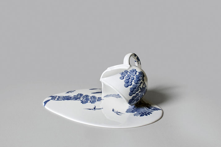 ''Nomad Patterns'' melting ceramic series by Livia Marin. (2012)photo © Sachiyo Nishimura.