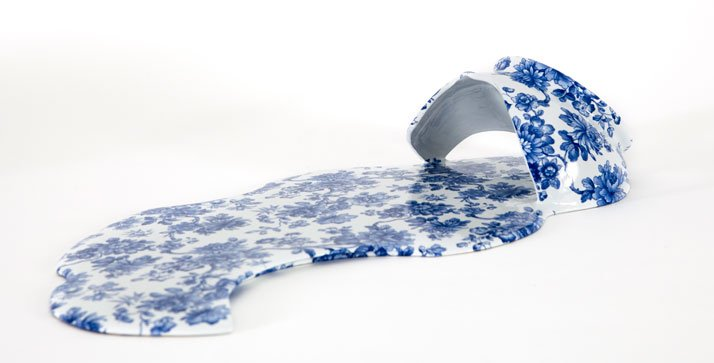 ''Nomad Patterns'' melting ceramic series by Livia Marin. (2012). Photo © Sachiyo Nishimura.