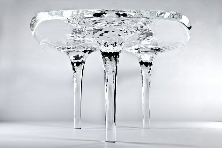 Liquid Glacial Table by Zaha Hadid Architects for David Gill Galeries. (2012). Photo © Jacopo Spilimbergo.