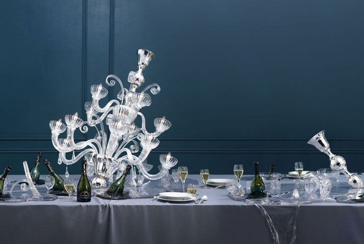 Melting collection by Maarten Baas for Dom Ruinart. (2009)photo © Ruinart.