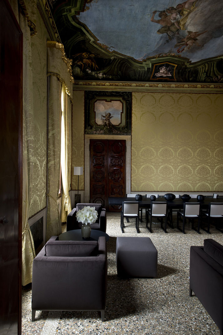 Del Gurana Meeting Room, photo © Aman Canal Grande Hotel, Venice, Amanresorts.