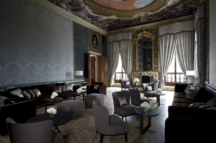 Del Tiepolo Game Room, photo © Aman Canal Grande Hotel, Venice, Amanresorts.