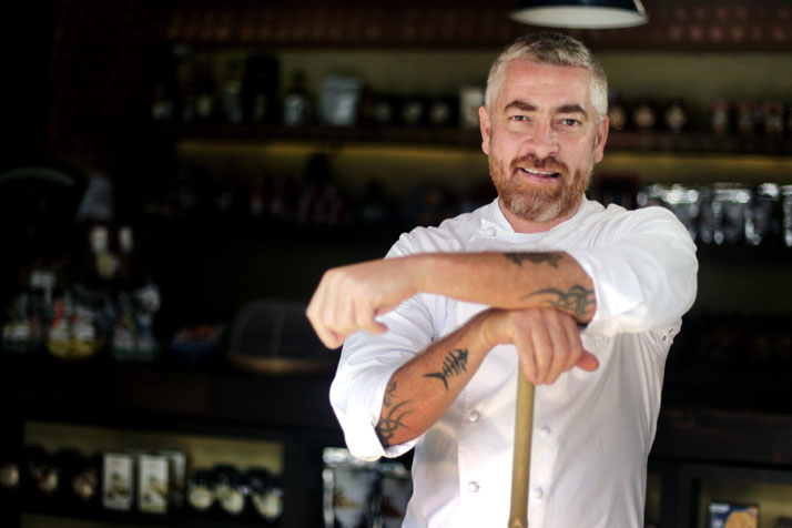 portrait of Alex Atala by Filipe Araújo/Estadão.
