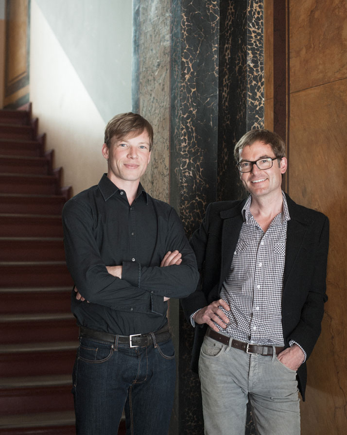 Erik Hofstetter (left) & Gisbert Pöppler (right), photo © Wolfgang Stahr.