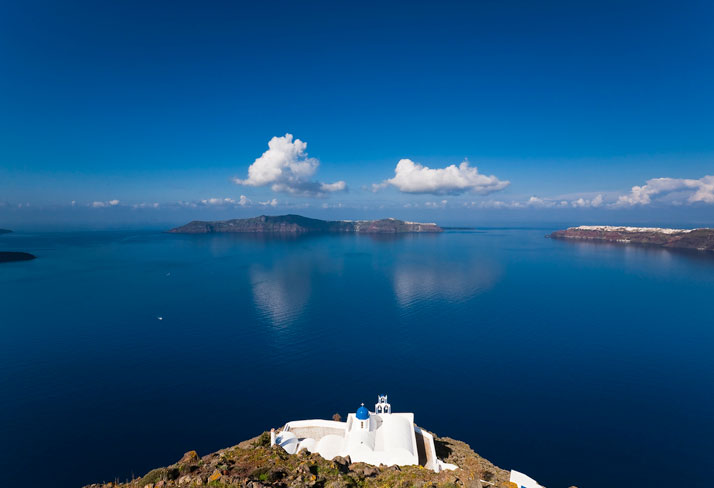 Santorini, Cyclades islands, Greece. photo © Vasilis Tsikkinis.