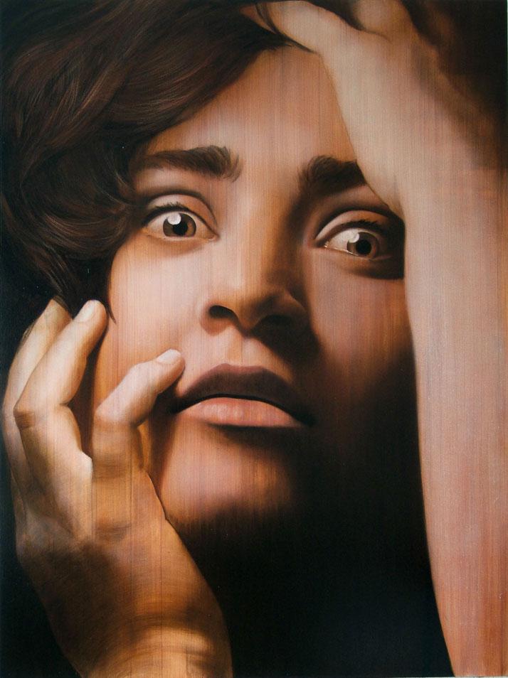 ''PAULA'' 200x160cm oil on canvas. Collection Jesus Barcenas. Valdepeñas. Courtesy of Antonio Santin, 2007.