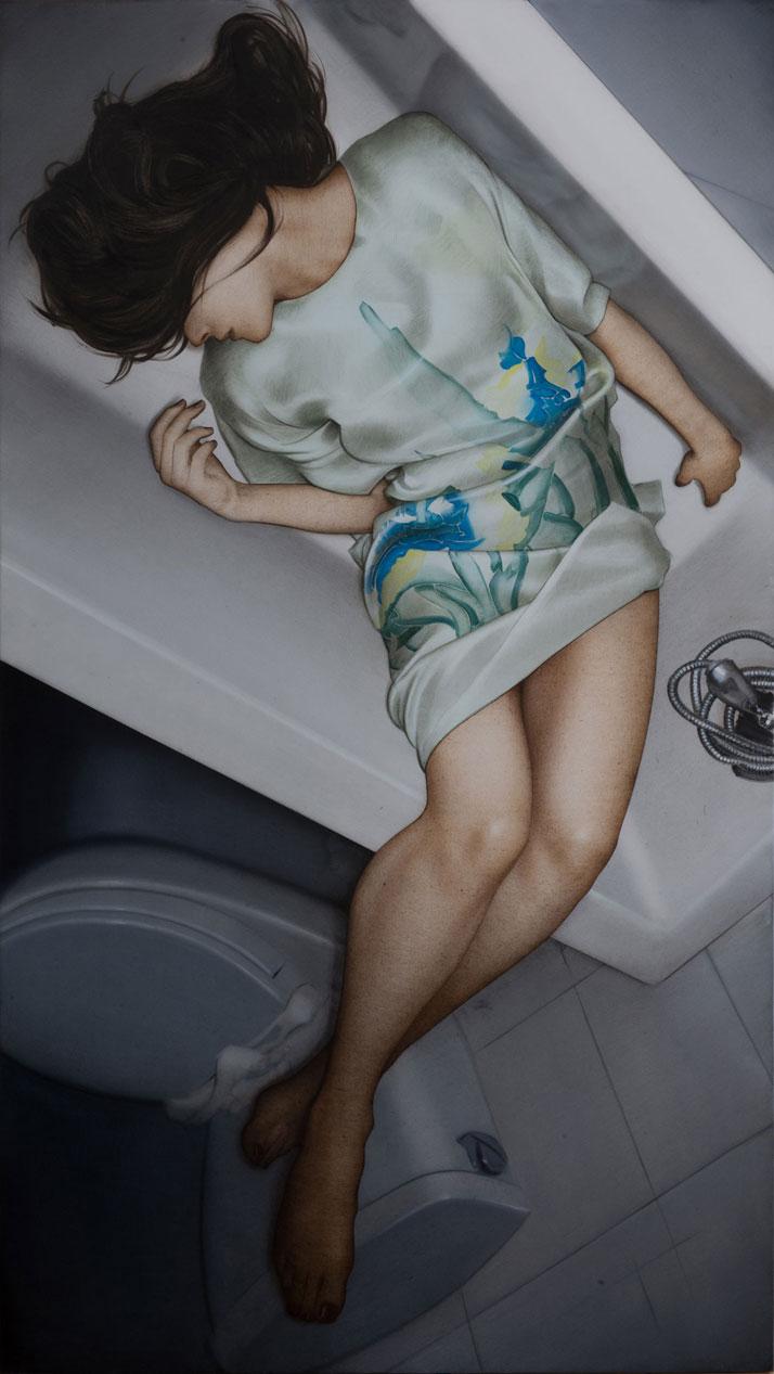 ''BÜSING'' 94x53inch. (239x135cm). Oil on canvas. Courtesy of Antonio Santin, 2013.