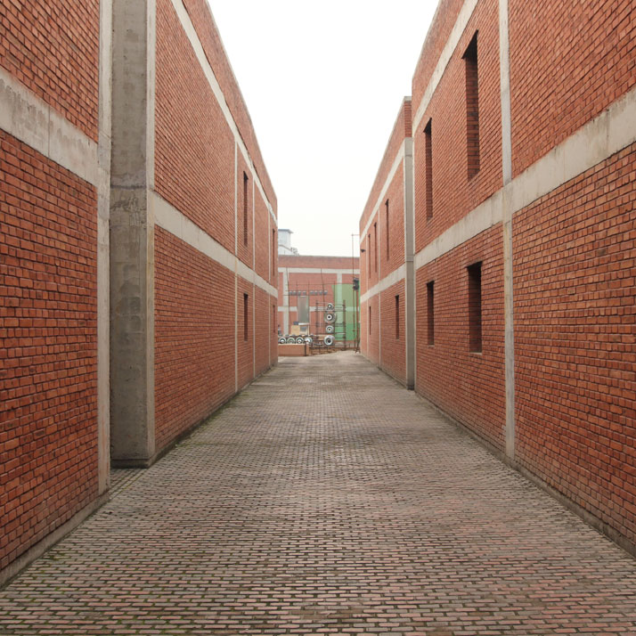 The RED BRICK complex by Ai Weiwei in Caochangdi Art Village. Photo © Costas Voyatzis.