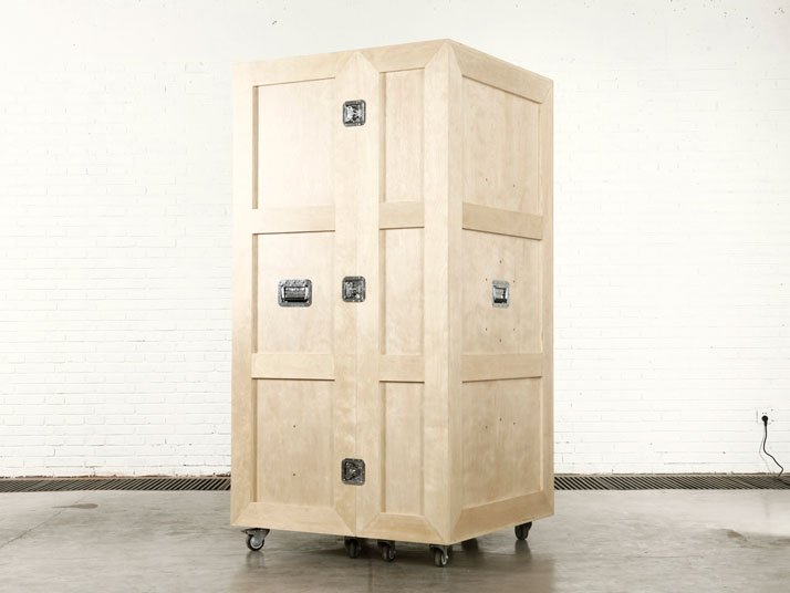 The CRATES furniture series by Naihan Li. (Crate Wardrobe)