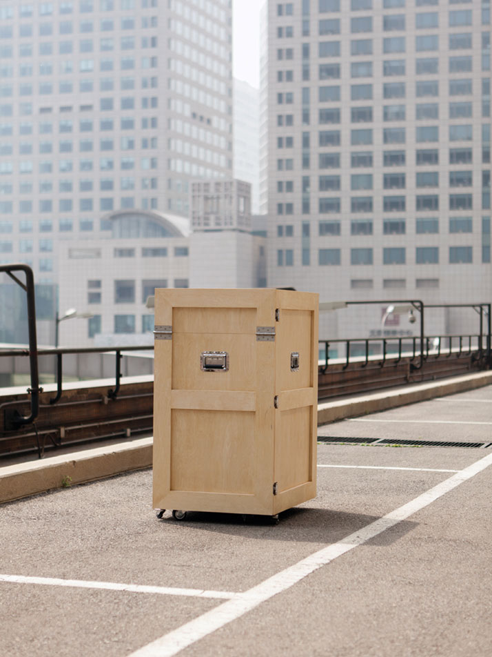 The CRATES furniture series by Naihan Li. (Crate Work Office)