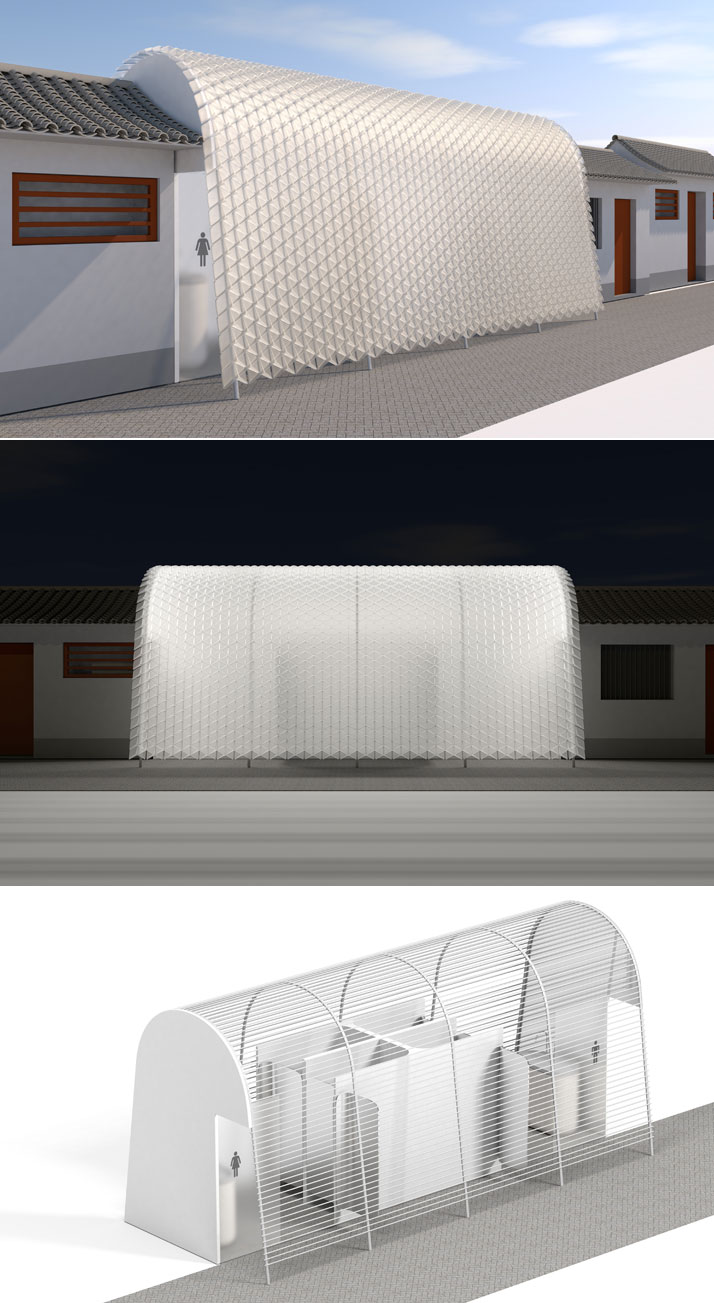 Michael Young Studio developed a concept for Public Toilet in Dashilar district.