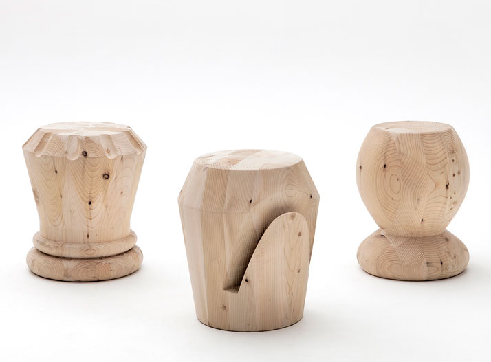 Regina, Alfiere and Pedone stools by Giorgio Bonaguro, photo © Andrea Basile.