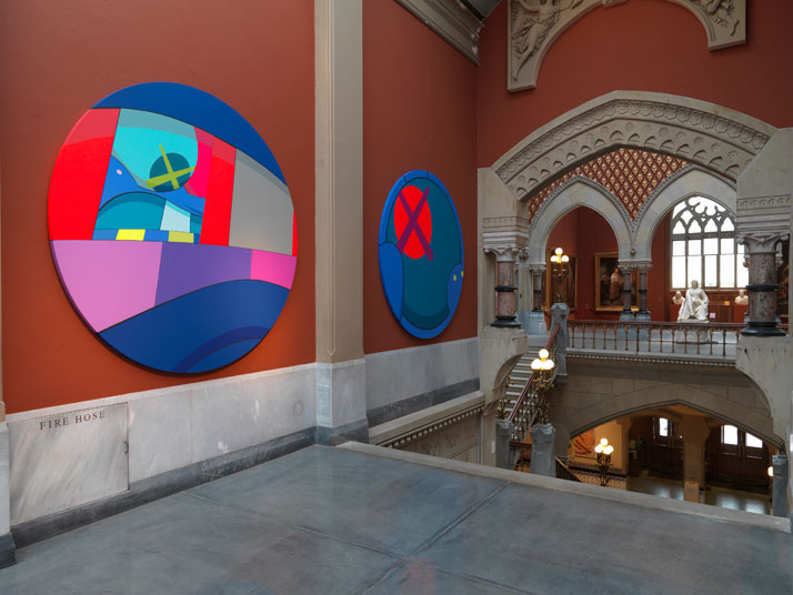KAWS @PAFA, installation view, 2013. Image courtesy of PAFA.