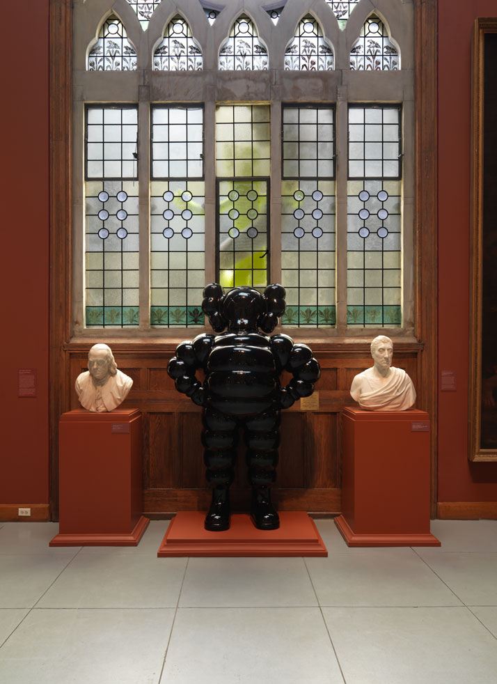 Installation view of KAWS CHUM (2009) at the Pennsylvania Academy of the Fine Arts, 2013. Image courtesy of PAFA.