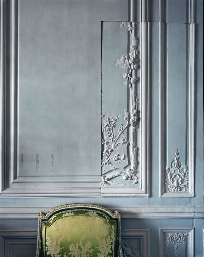 ROBERT POLIDORI''Boiserie detail, Cabinet intérieur de Madame Victoire, Versailles''72'' by 60'' (183 cm by 152 cm)C-print2008Copyright: ROBERT POLIDORI.Courtesy: Mary Boone Gallery and Edwynn Houk Gallery, New York.