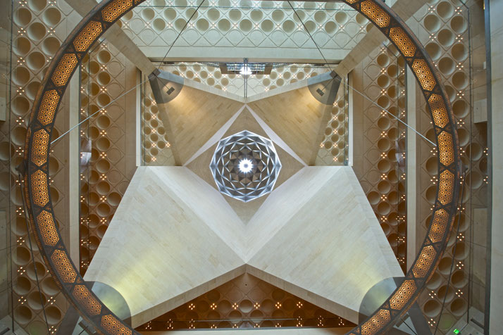 Atrium ceiling of the Museum of Islamic Art in Doha, Qatar, April 2012photo © James Duncan Davidson.