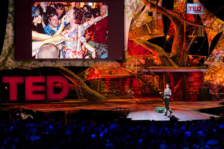 Amanda Palmer on stage at TED in Long Beach, February 2013.photo © James Duncan Davidson.