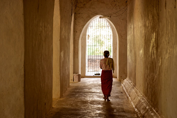 Woman in a temple in Bagan, Myanmar, January 2012.photo © James Duncan Davidson.