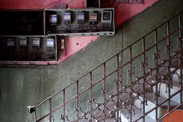 Entrance to a residential building near the Malecón in Havana, Cuba, April 2013.photo © James Duncan Davidson.