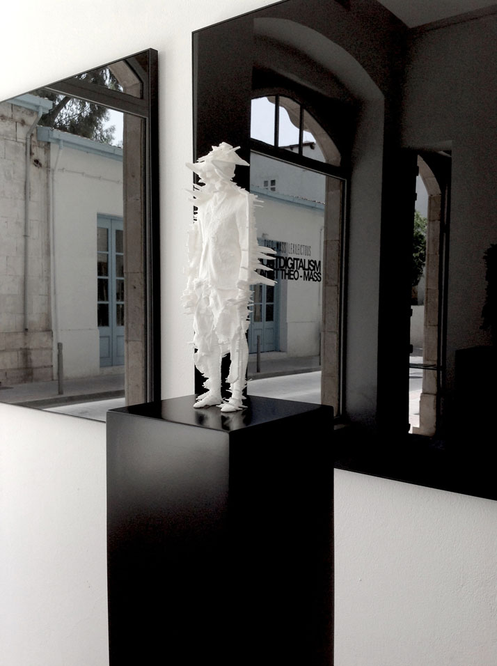 #statueoftheomass / 3d print / nylon.Installation view from the #postdigitalism exhibition / Morfi Gallery, Limassol, Cyprus.