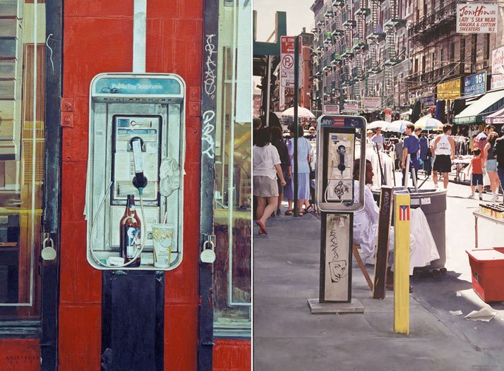 "left / Aristides Ruiz, BEER n' SHAKE, 2001, oil over acrylicon canvas11"" x 16"" 