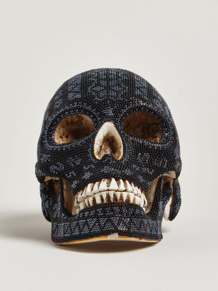 Our Exquisite Corpse Huichol Black Skull Made Exclusively For LN-CC.
