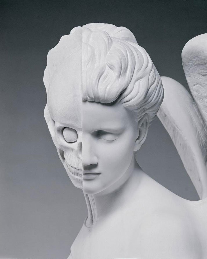 Damien Hirst, The Anatomy of an Angel, 2008 (detail).Carrara marble, Sculpture1870 x 980 x 785 mm | 73.6 x 38.6 x 30.9 in | Edition of 3 (indoor version)Photographed by Prudence Cuming Associates © Damien Hirst and Science Ltd. All rights reserved, DACS 2012
