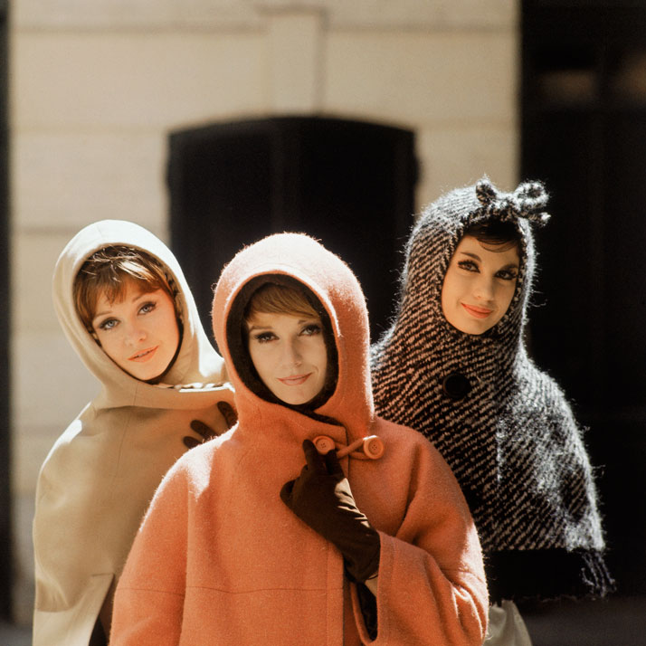 1961, Jungle, Canada, and Amsterdam models, Autumn-Winter 1961 Haute Couture collection, Charme 62 line.photo © Mark Shaw.