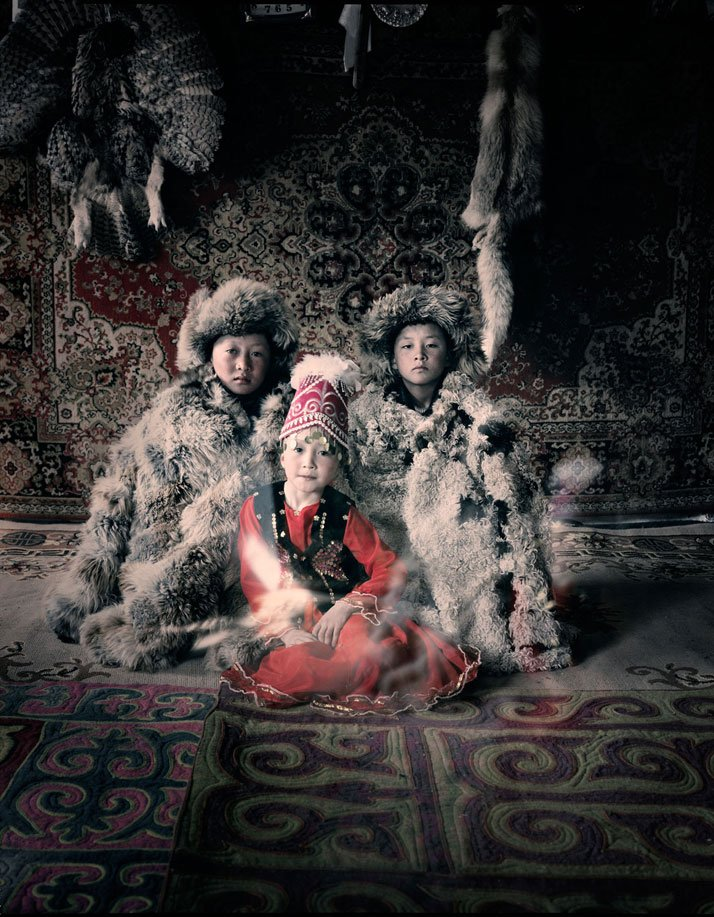 The KAZAKH tribe, MONGOLIA, March 2011.photo © Jimmy Nelson.