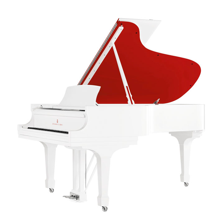 STEINWAY & SONSUNIQUE ''RED POPS FOR (RED)'' PARLOR GRAND MODEL A PIANOIncorporating design components hand selected by Jony Ive and Marc Newson,