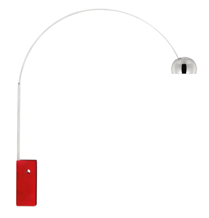 ACHILLE AND PIER GIACOMO CASTIGLIONI''ARCO'' LAMPCustomised by Jony Ive and Marc Newson for the (RED) Auction 2013. Edition 01/01.Aluminium, marble an