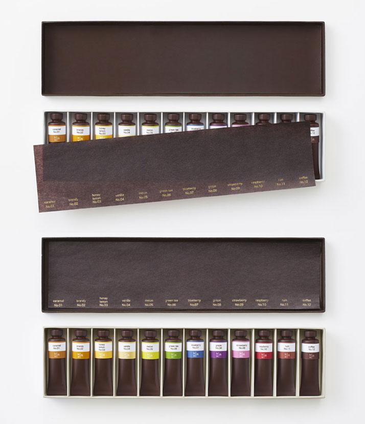 Chocolate-paint by Nendo for Seibu, 2013.Photo © Ayao Yamazaki.