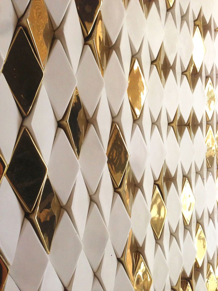 Wellington Gold (ceramic tiles). Photo © Giles Miller Studio.
