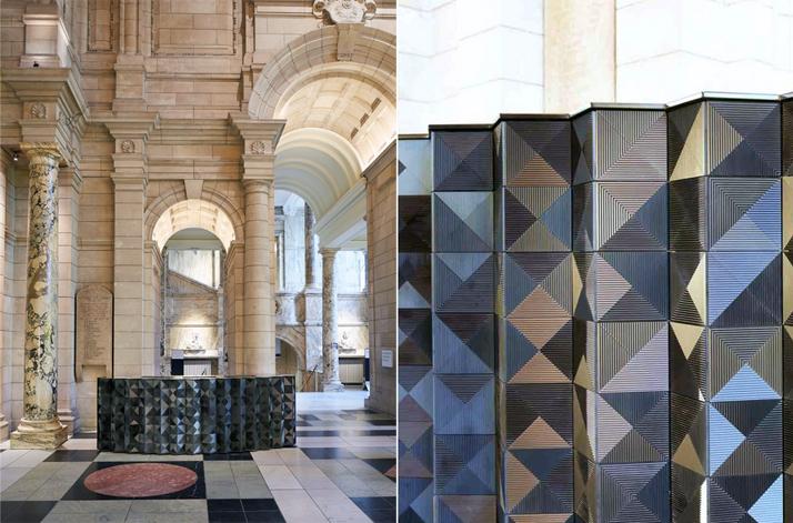 'Louvres' desk, V&A, London Design Week 2013.Photo © Giles Miller Studio.