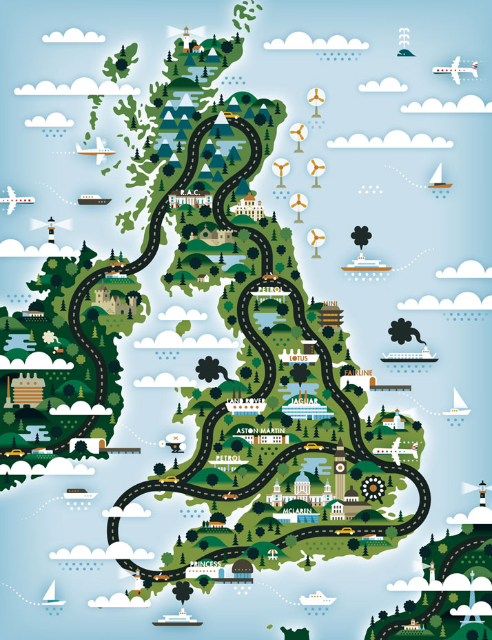 The map of United Kingdom (for The Good Life), Courtesy of KHUAN+KTRON.
