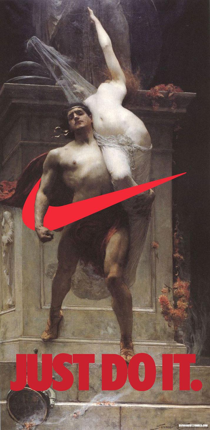 Swoosh on Ajax and Cassandra (1886) by Joseph Solomon (1860-1927).
