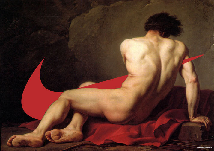 Swoosh on Patrocle (1780) by Jacques-Louis David (1748-1825).