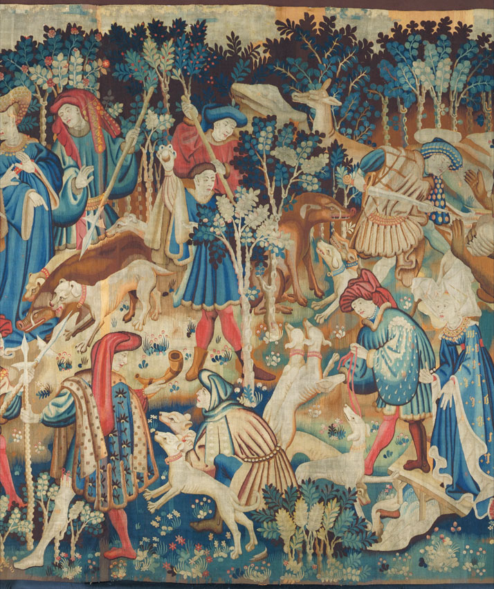 Detail of Devonshire Hunting Tapestry, 1425-30.photo © Victoria and Albert Museum.