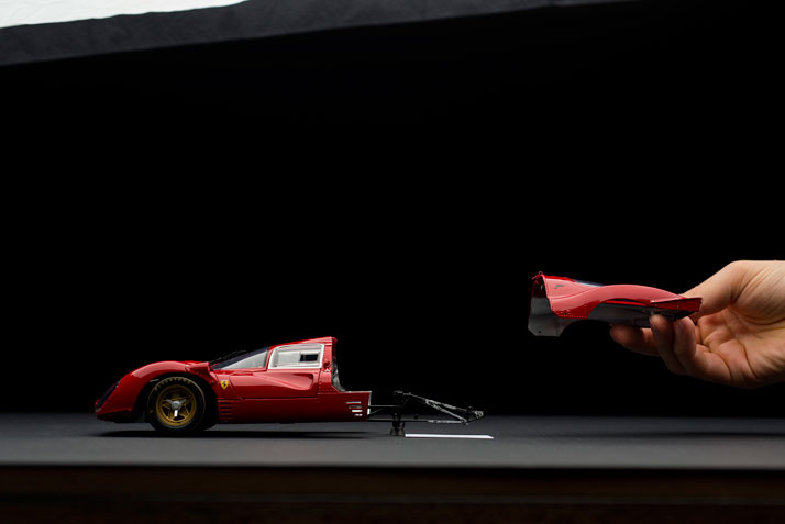 Ferrari 330 P4 (1967); Disintegrating 02 (making of), photo © Fabian Oefner.
