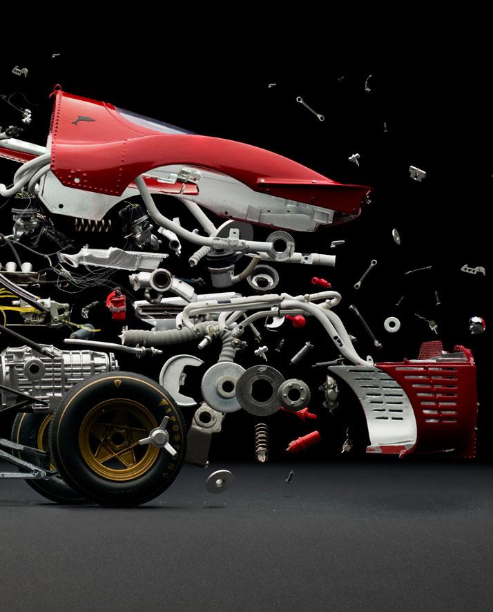 Ferrari 330 P4 (1967); Disintegrating 02 (detail), photo © Fabian Oefner.
