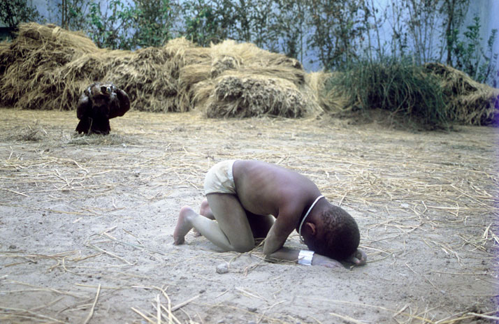 Xu Zhen, The Starving Sudan, 2008Installation, performance, photography
