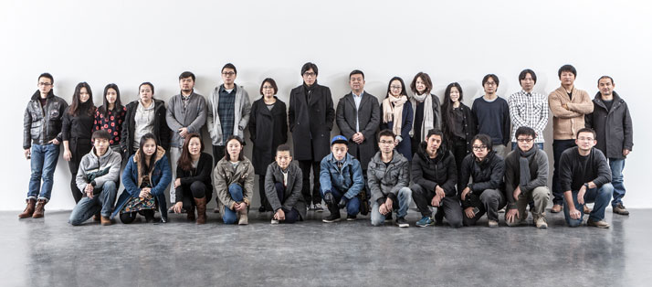 Xu Zhen and MadeIn Company team.Courtesy of Ullens Center for Contemporary Art