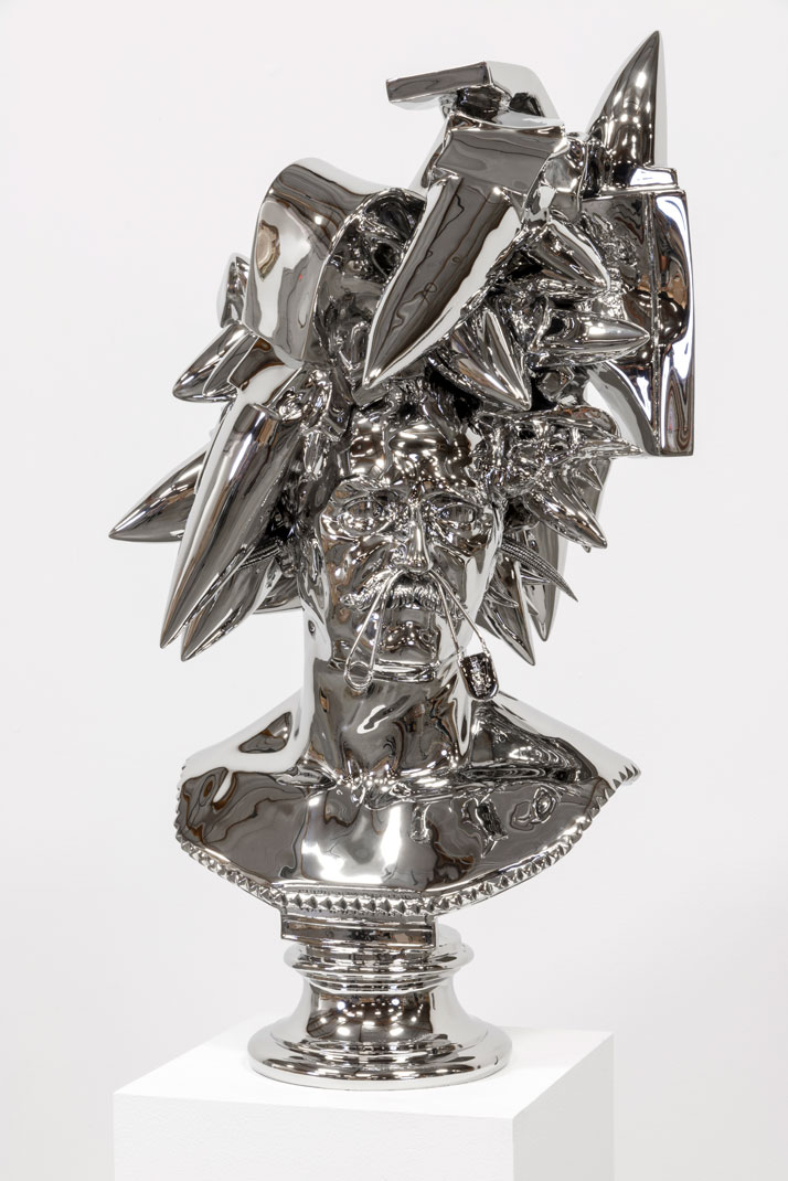 Joel Morrison, Anvils, 2013 Stainless steel, 78,7 x 58,4 x 55,9 cm.Courtesy of the artist and Almine Rech Gallery.