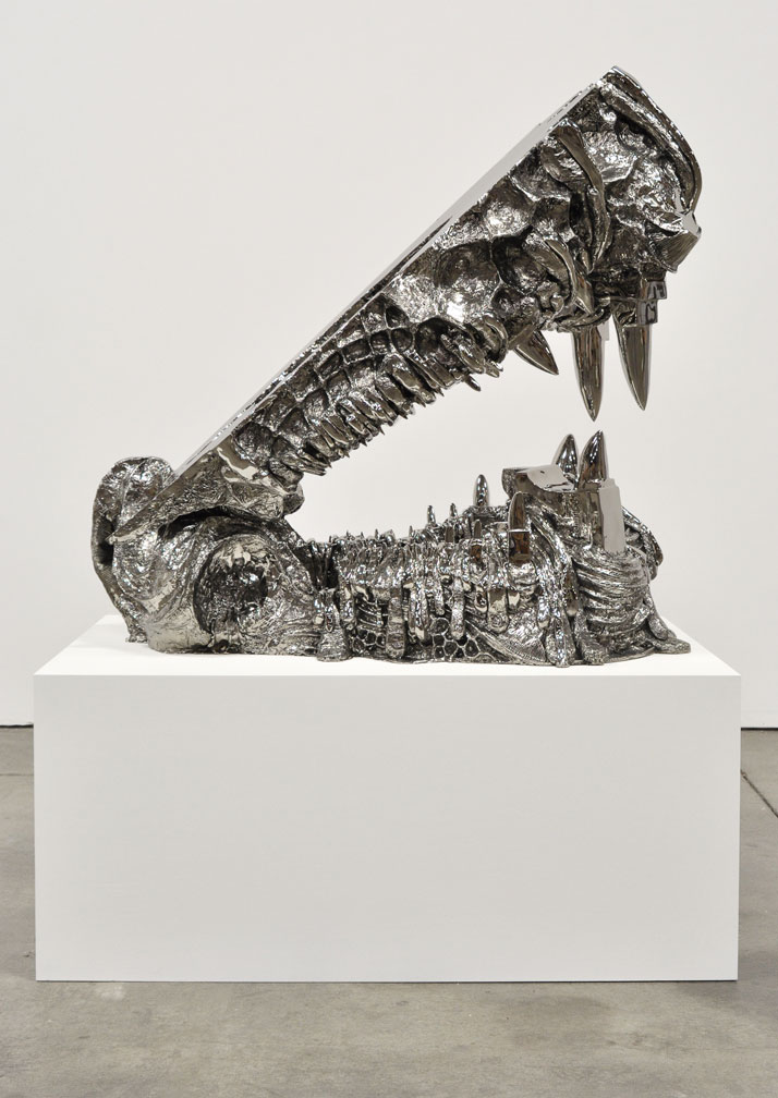Joel Morrison, Untitled (Anvil Jaws), 2013 Stainless steel, 132,1 x 137,2 x 81,3 cmCourtesy of the artist and Almine Rech Gallery.