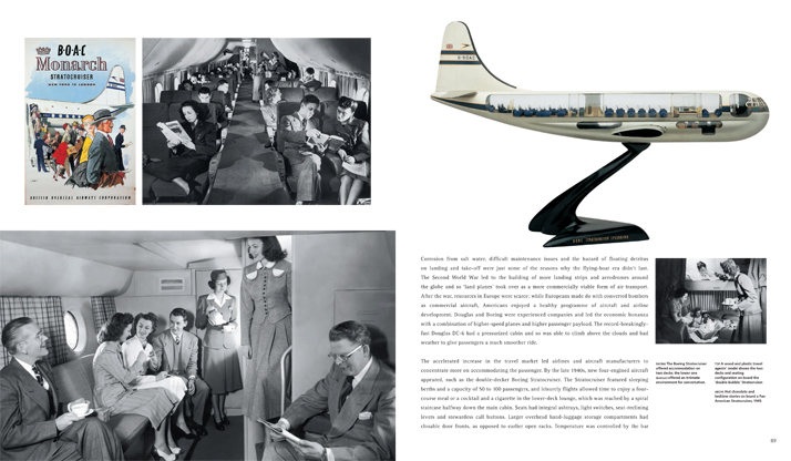 Book spread // Airline: Style at 30,000 Feet (mini edition). Courtesy of Laurence King Publishing.
