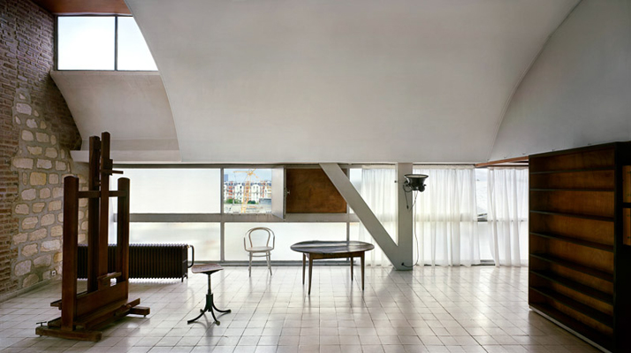 Le Corbusier's studio, rue Nungesser-et-Coli, Paris, 1931-34. View of the interior © Richard Pare, 2012.