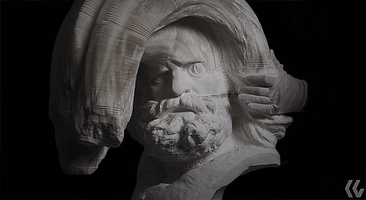 Statues In Motion, video screenshot, Courtesy of Kid Guy Collective and Klein Sun Gallery.